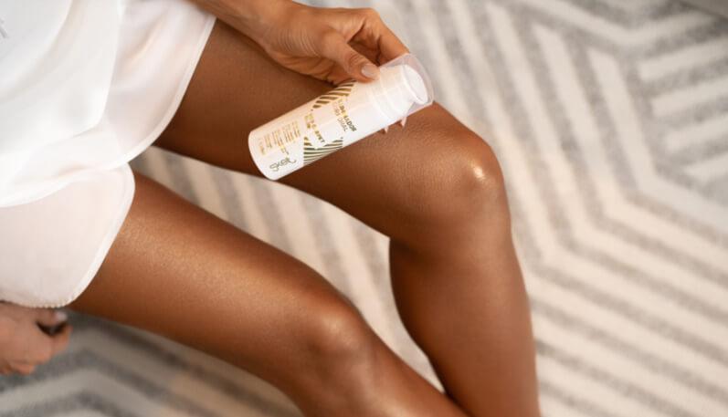 maquiagem para as pernas